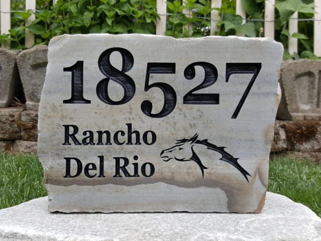 Custom Engraved Address Rock